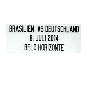 Brasil Vs Deutschland Official World Cup 2014 8th July Matchday Transfer