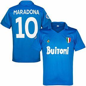 Napoli Home Reproduction Retro Maradona 10 Jersey 1987-1988