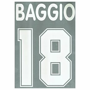Baggio 18 - 1995 AC Milan Home Flock Name and Number Transfer