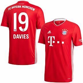 20-21 Bayern Munich Home Shirt + Davies 19