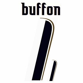 Buffon 1 - 06-07 Italy Away Official Name and Number