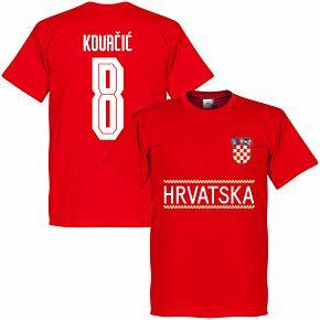 Croatia Kovacic 8 Team T-shirt - Red