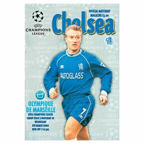 Chelsea vs Olympique Marseille C/L Group 2 Match at Stamford Bridge Program - March 8, 2000