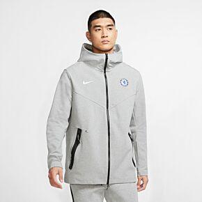 20-21 Chelsea Tech Pack FZ Hoodie - Grey