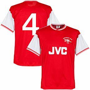 1985 Arsenal Home Centenary Retro Shirt + No. 4