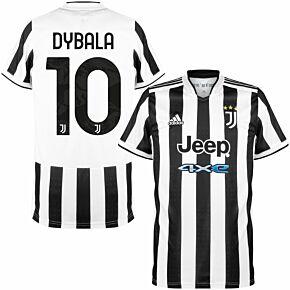 21-22 Juventus Home Shirt + Dybala 10 (Official Printing)