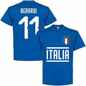 Italy Berardi 11 Team T-shirt - Royal
