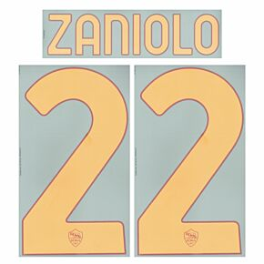 Zaniolo 22 (Official Printing) - 21-22 AS Roma Home