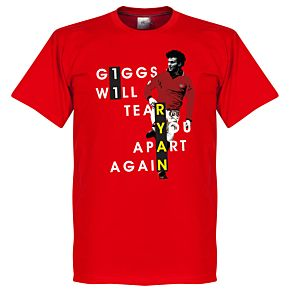Giggs Will Tear You Apart Tee - Red
