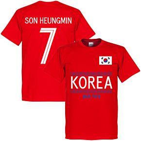 Korea Son Heungmin 7 Team Tee - Red