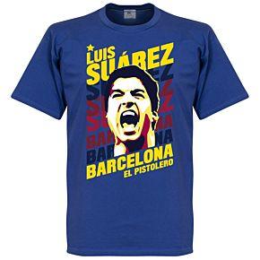 Luis Suarez Barcelona Portrait Tee - Royal