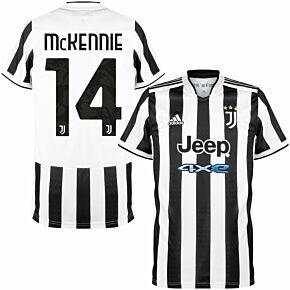 21-22 Juventus Home Shirt + McKennie 14 (Official Printing)