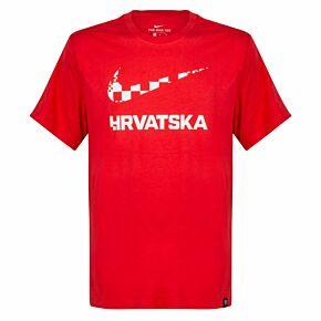 20-21 Croatia Ground T-Shirt - Red