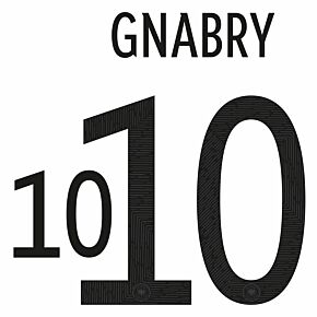 Gnabry 10 (Official Printing) 20-21 Germany Home