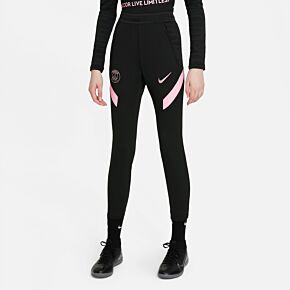 21-22 PSG Strike Track Pants - Black/Pink - Kids
