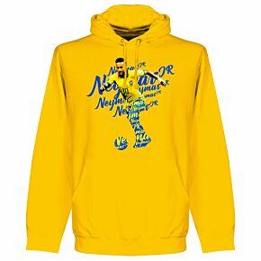 Neymar Script KIDS Hoodie - Yellow