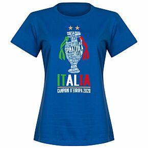 Italia Champions of Europe 2020 Womens T-shirt - Royal