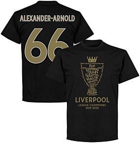 Liverpool 2020 League Champions Trophy Alexander-Arnold 66 T-shirt - Black