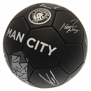 Man City Signature Ball - Black/Silver (Size 5)