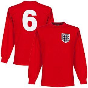 1966 England Away L/S Retro Shirt + No. 6