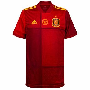 20-21 Spain Home Shirt + Official v Poland Matchday Transfer