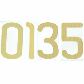 09-11 Adidas Back Numbers Gold Official Number Transfer