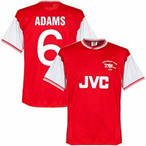 1985 Arsenal Home Centenary Retro Shirt + Adams 6