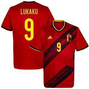 20-21 Belgium Home Shirt + Lukaku 9