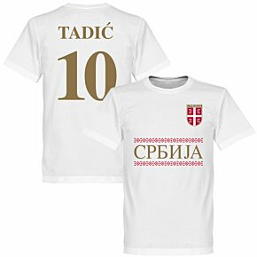 Serbia Tadic 10 Team Tee - White