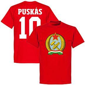 Hungary 1953 Puskas 10 T-Shirt - Red