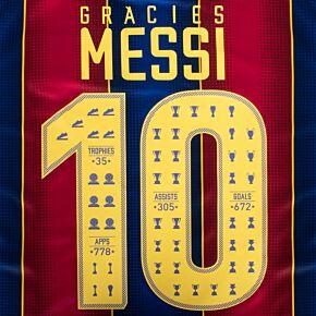 Gràcies Messi 10 (Celebration Printing) - Yellow - KIDS