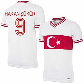 79-80 Turkey Home Retro Shirt + Hakan Şükür 9 (Retro Flock Printing)
