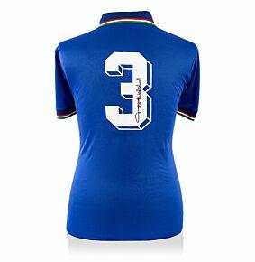 Paolo Maldini Back Signed Italy 1990 Home Shirt