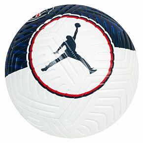 21-22 PSG x Jordan Strike Football - White/Navy - (Size 5)