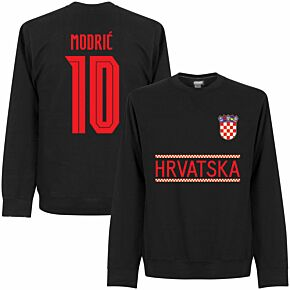 Croatia Modric 10 Team Sweatshirt - Black