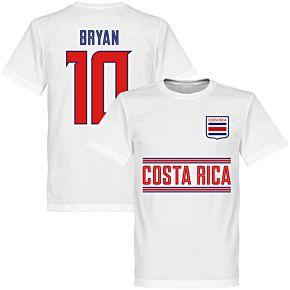Costa Rica Bryan 10 Team Tee - White