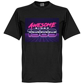 Awesome Since 1989 Tee - Black