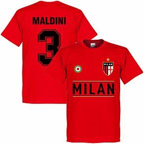 AC Milan Maldini 3 Team Tee - Red