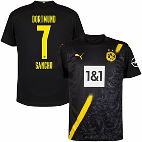 20-21 Borussia Dortmund Away Shirt + Sancho 7 (Official Printing)