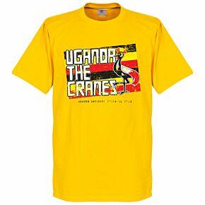 Uganda The Cranes Tee - Yellow