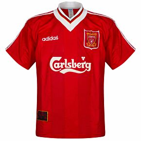 adidas Liverpool 1995-1996 Home Jersey USED Condition (Damaged) - Size Small