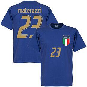2006 Italy Materazzi Tee - Royal