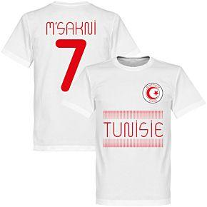 Tunisia Msakni 7 Team Tee - White