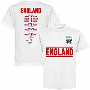 England Road to the Final T-shirt - White