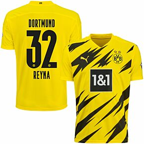 20-21 Borussia Dortmund Home Shirt + Reyna 32