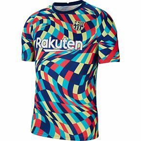 2021 Barcelona Breathe S/S Pre-Match Top - Blue