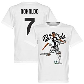 Ronaldo 7 Script Tee - White