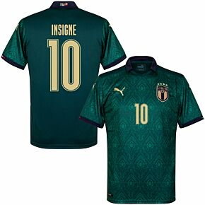 19-20 Italy Renaissance 3rd Shirt + Insigne 10 (Fan Style Printing)