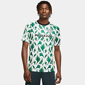20-21 Nigeria Pre-Match Training Top - White