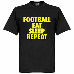 Football Addiction Tee - Black/Yellow